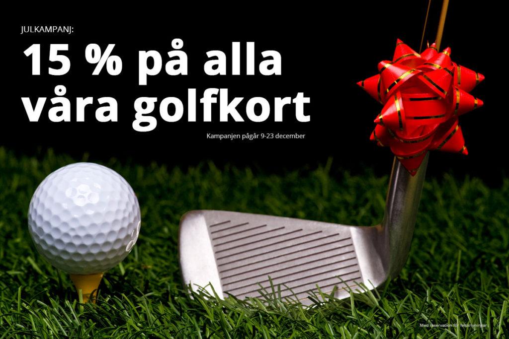 Julkampanj: 15 % rabatt på alla golfkort